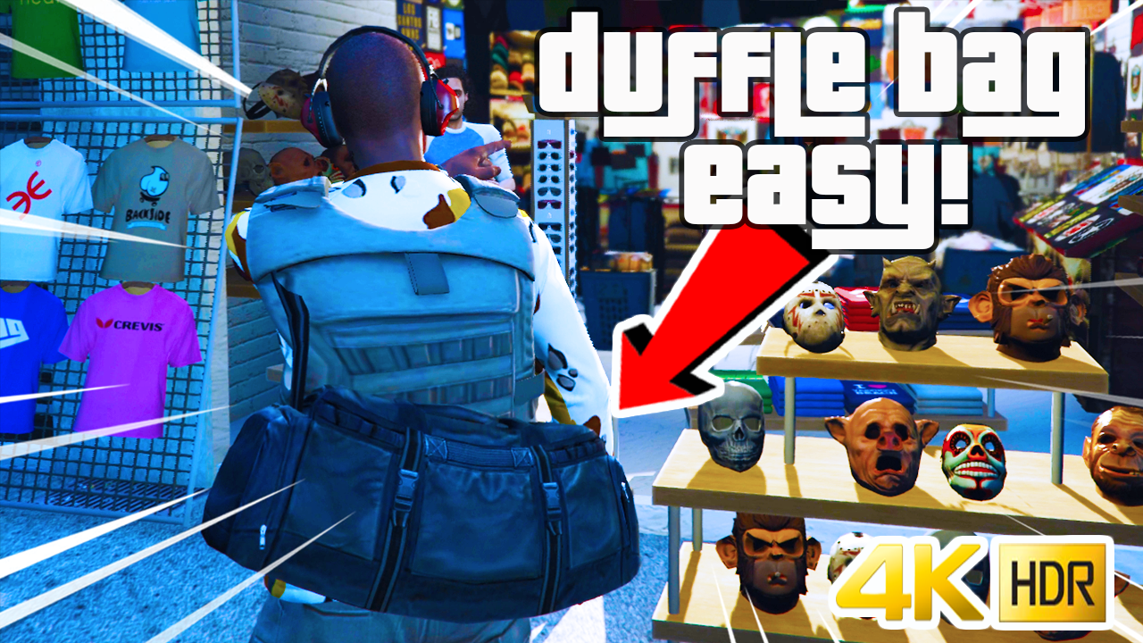 Duffle Bag Glitch Tutorial (GTA V) 1.50