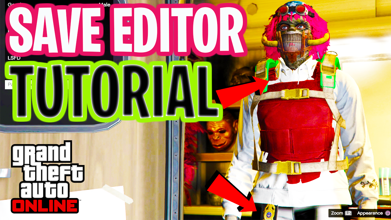 GTA Save Editor Tutorial (How To Make Custom Outfits in GTA Online) 1.50
