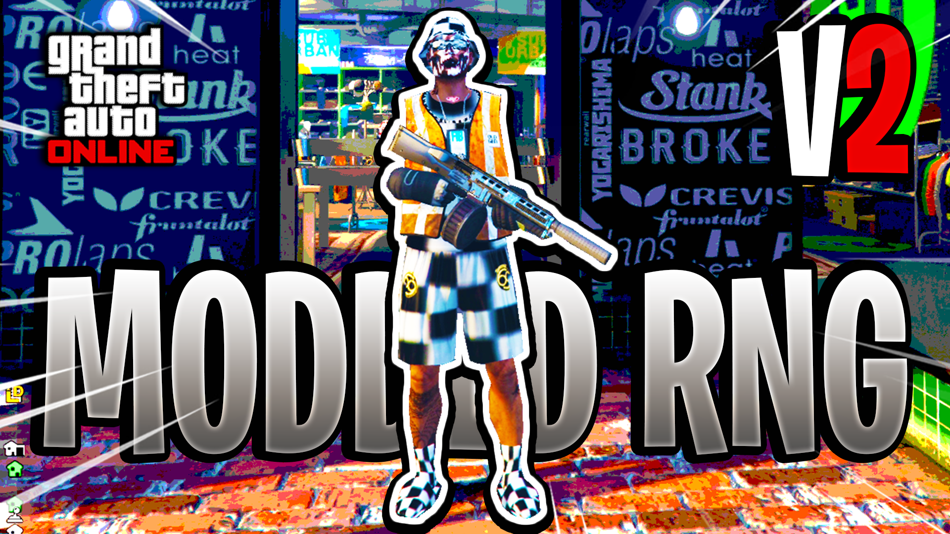 Full Checkerboard Modded Outfit v2 (Keep All Outfits) GTA Online