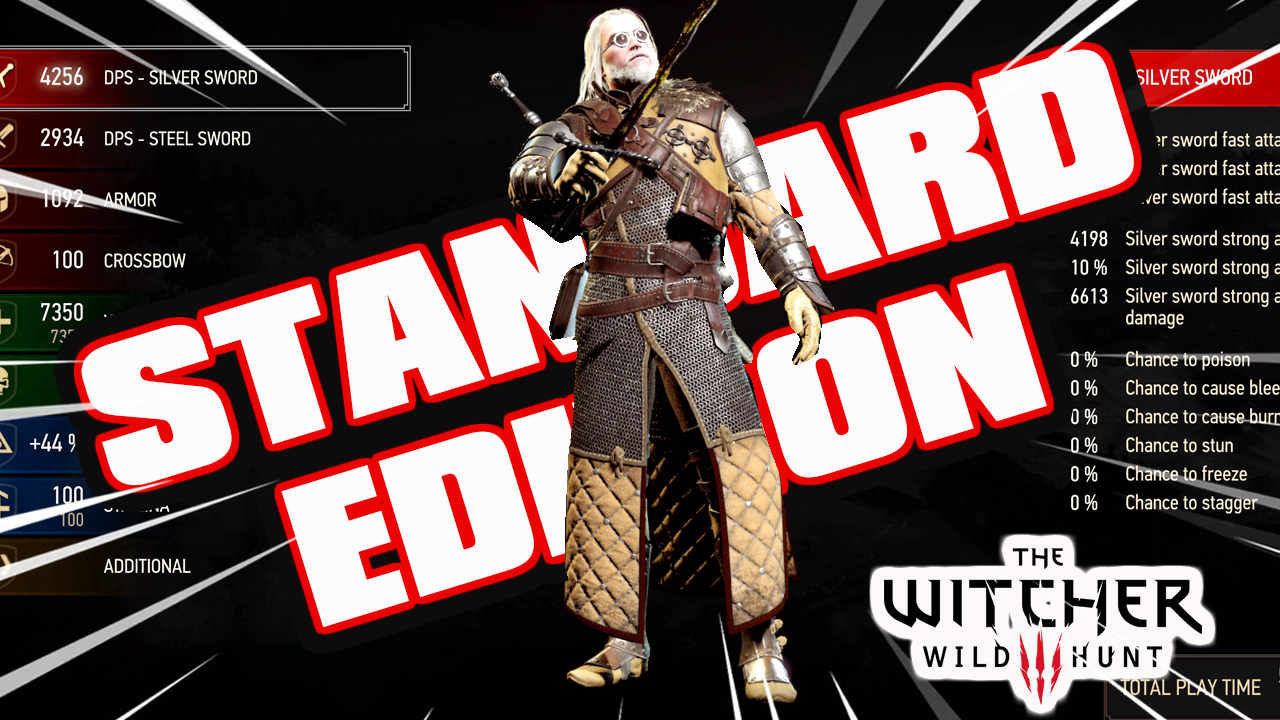 The Witcher 3: All Grandmaster Legendary Armor [NG+] Save [PS4 Standard Edition]