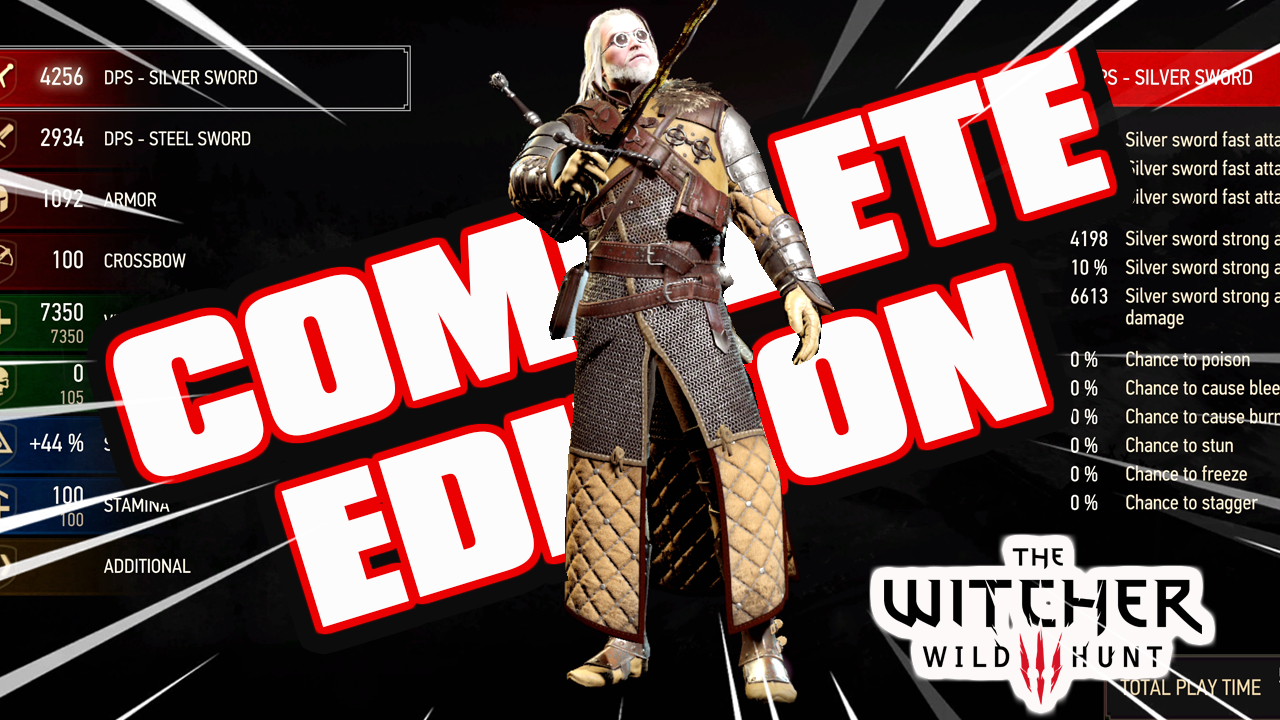 The Witcher 3: All Grandmaster Legendary Armor [NG+] Save [PS4 Complete Edition]