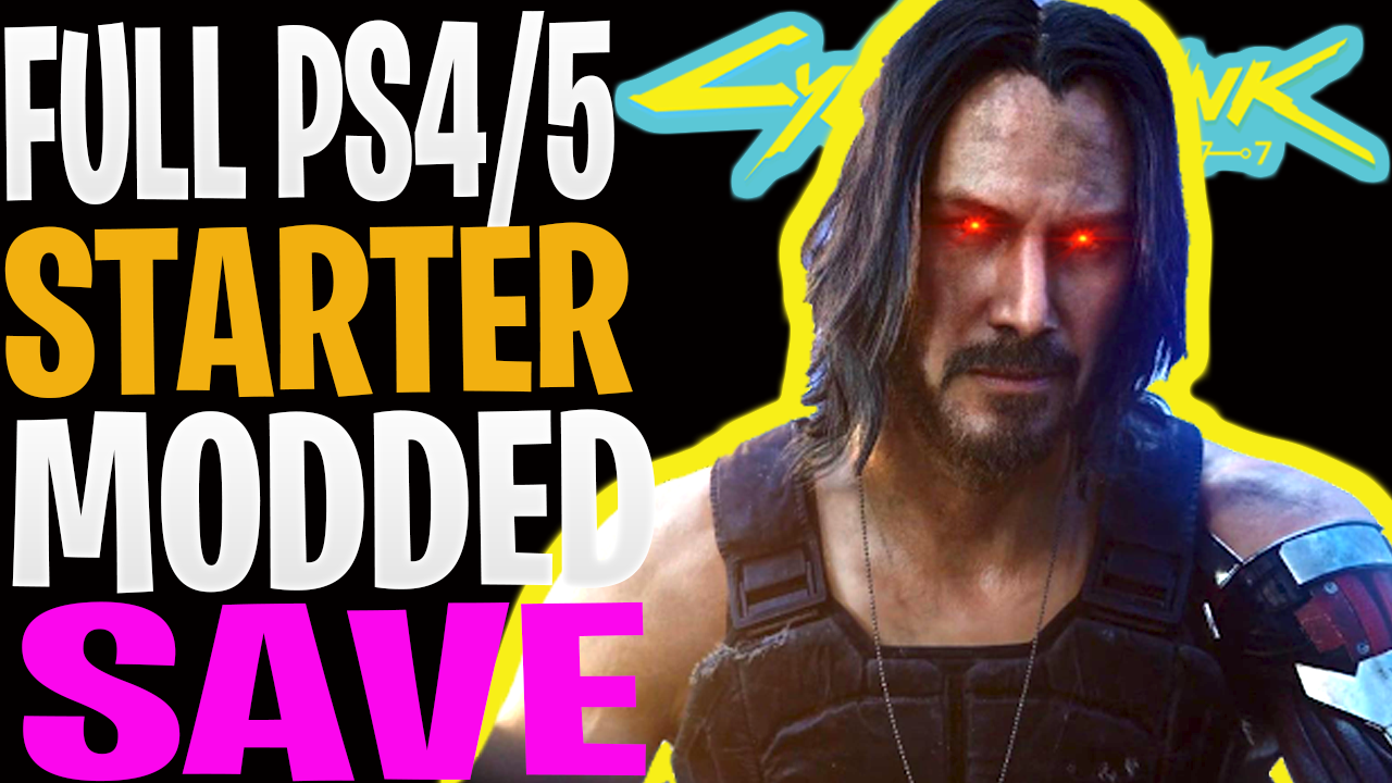 Cyberpunk 2077: Fully Modded Starter Save [NOMAD] (PS4/PS5)